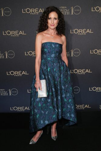 Andie MacDowell height and weight 2016