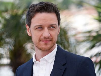 James McAvoy Chest Biceps size