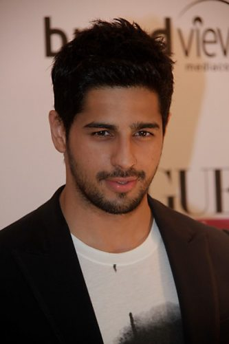 Sidharth Malhotra height and weight 2016