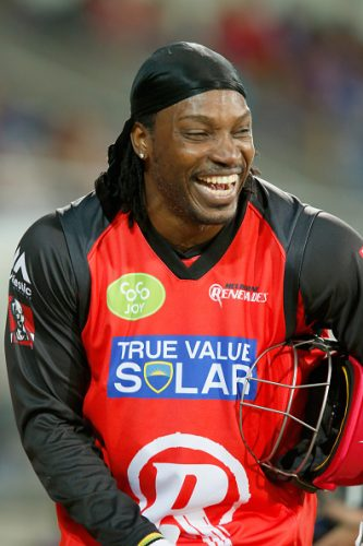 Chris Gayle Chest Biceps size