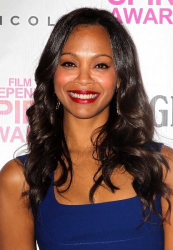 Zoe Saldana height and weight 2017