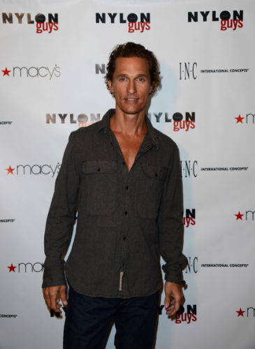 Matthew McConaughey Chest Biceps size