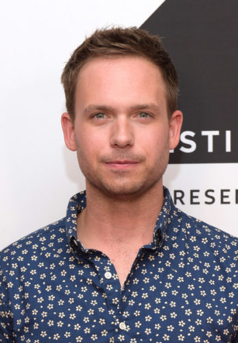 Patrick J. Adams Chest Biceps size